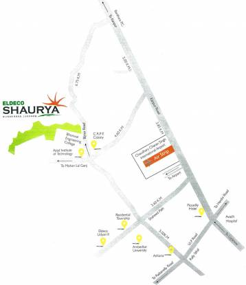 Eldeco Shaurya Plots Location Plan
