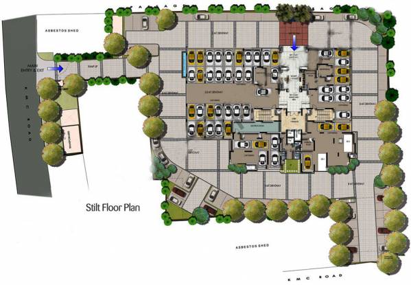 Salarpuria Sattva Luxuria Heights Cluster Plan