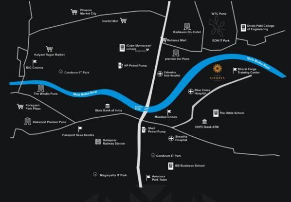 Gagan Utopia Location Plan