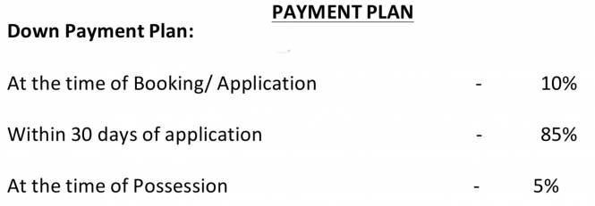Radhey Casa Greens Payment Plan
