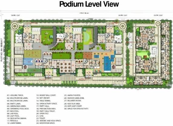 Bengal Swan Court Site Plan