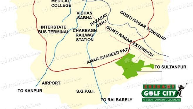 Ansal Sushant Golf City Location Plan