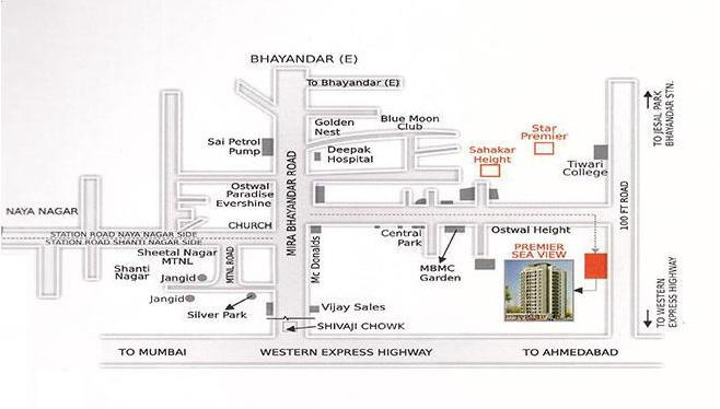 Star Premier Sea View Location Plan