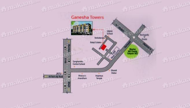 Ganesha Builders Ganesha Towers Location Plan