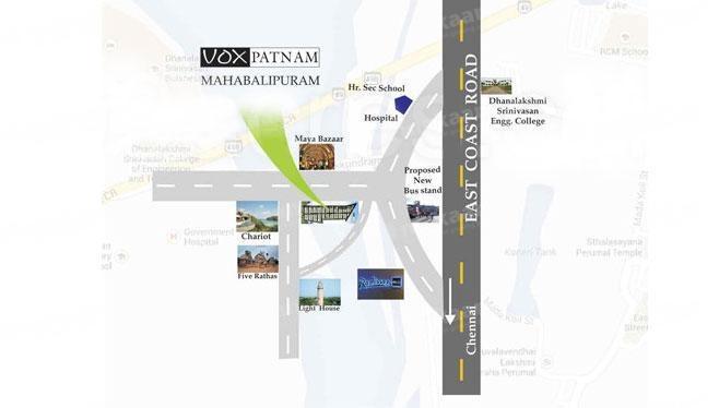 Vox Realties Pvt Ltd Vox Patnam Location Plan