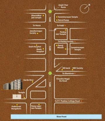 Ratna Ruchi Vatika Location Plan