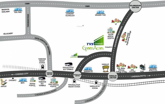 TVS Emerald Green Acres Location Plan