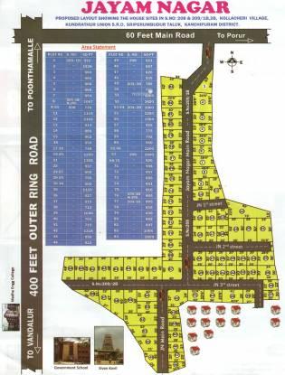 Madras Jayam Nagar Layout Plan