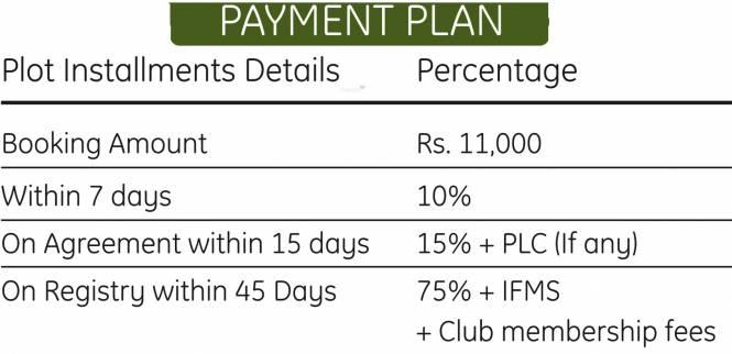 Vaneet Garden Estate Payment Plan