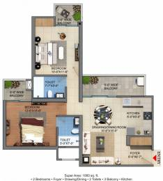 1060 sqft, 2 bhk Apartment in Builder JM florence Tech Zone 4 Greater Noida Wes, Noida at Rs. 34.7500 Lacs