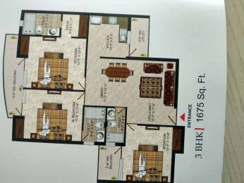 1675 sqft, 3 bhk Apartment in Pushpanjali Seasons Dayal Bagh, Agra at Rs. 45.2500 Lacs