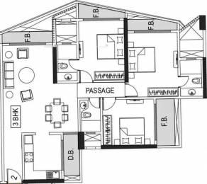 1580 sqft, 3 bhk Apartment in Kanakia Samarpan Exotica Kandivali East, Mumbai at Rs. 2.2000 Cr