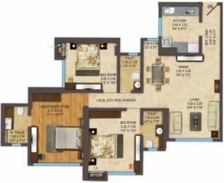 1320 sqft, 3 bhk Apartment in ACME Oasis Tower 2 Kandivali East, Mumbai at Rs. 2.2000 Cr