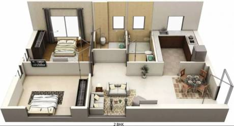 951 sqft, 2 bhk Apartment in Siddha Seabrook Apartment Kandivali West, Mumbai at Rs. 1.6000 Cr
