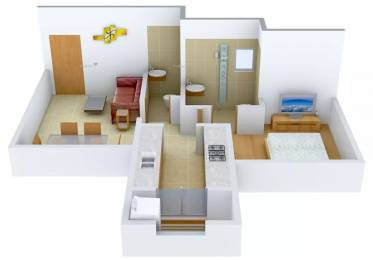 741 sqft, 1 bhk Apartment in Rustomjee Meridian Kandivali West, Mumbai at Rs. 95.0000 Lacs