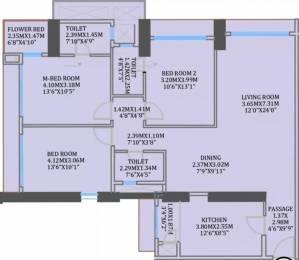 1561 sqft, 3 bhk Apartment in CCI Rivali Park Wintergreen Borivali East, Mumbai at Rs. 2.9000 Cr