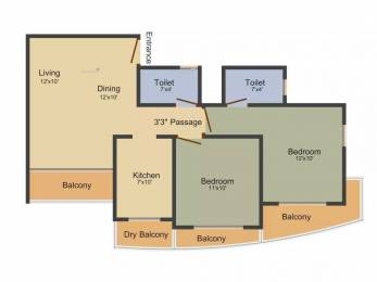 1015 sqft, 2 bhk Apartment in Atul Atul Madhukunj Borivali East, Mumbai at Rs. 1.4500 Cr
