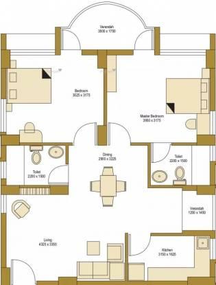 1069 sqft, 2 bhk Apartment in Bengal Peerless Avidipta Mukundapur, Kolkata at Rs. 22000