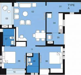 1200 sqft, 2 bhk Apartment in Ambuja Upohar Garia, Kolkata at Rs. 35000