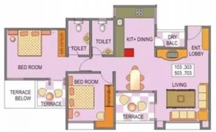 1169 sqft, 2 bhk Apartment in Venkateshwara Silver Moon Baner, Pune at Rs. 18500