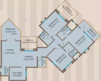 1603 sqft, 3 bhk Apartment in Rachana Beverly Hills Baner, Pune at Rs. 28000