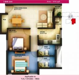 1016 sqft, 2 bhk Apartment in Arihant Chetna Perambur, Chennai at Rs. 22000