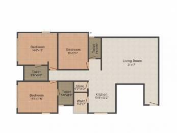 2396 sqft, 3 bhk Apartment in White Bellacasaa Bhimrad, Surat at Rs. 83.8600 Lacs