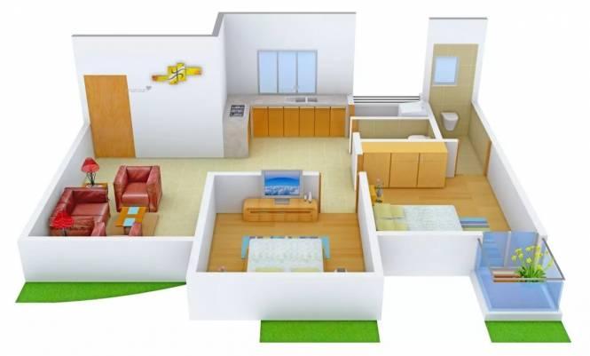 1191 sqft, 2 bhk Apartment in Raghuvir Saffron Althan, Surat at Rs. 50.0000 Lacs