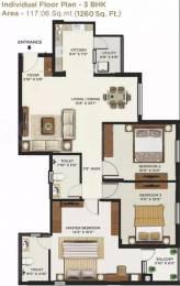 1260 sqft, 3 bhk Apartment in Mantri Alpyne Subramanyapura, Bangalore at Rs. 19000
