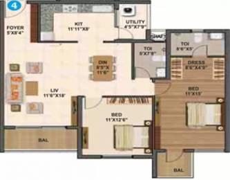 1370 sqft, 2 bhk Apartment in Sumadhura Madhuram Whitefield Hope Farm Junction, Bangalore at Rs. 35000