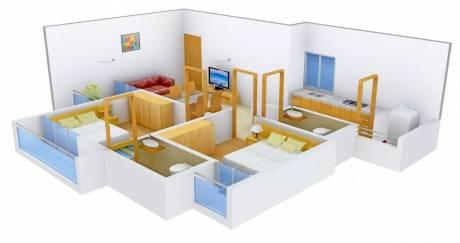 1008 sqft, 2 bhk Apartment in Sheetal Vedika Happy Valley Urjanagar, Gandhinagar at Rs. 28.0000 Lacs