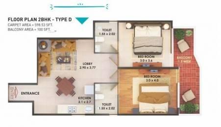 778 sqft, 2 bhk Apartment in Pyramid Fusion Homes Sector 70A, Gurgaon at Rs. 24.0000 Lacs