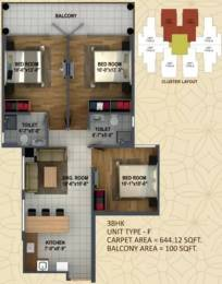 837 sqft, 3 bhk Apartment in ROF Ananda Sector 95, Gurgaon at Rs. 26.0000 Lacs