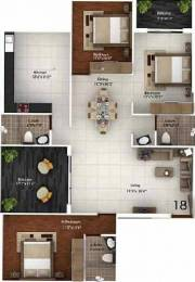 1715 sqft, 3 bhk Apartment in Bhandary Park Inn Kadri, Mangalore at Rs. 80.0000 Lacs