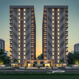 1270 sqft, 2 bhk Apartment in Builder Project Althan Canal Road, Surat at Rs. 49.1500 Lacs