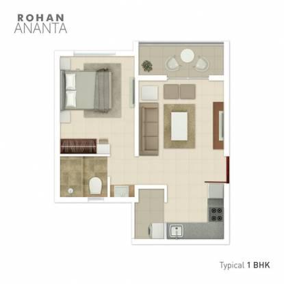 445 sqft, 1 bhk Apartment in Rohan Ananta Phase I Tathawade, Pune at Rs. 29.0000 Lacs