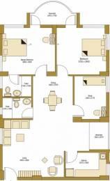 1347 sqft, 2 bhk Apartment in Bengal Peerless Avidipta Mukundapur, Kolkata at Rs. 29000