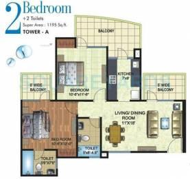 1195 sqft, 2 bhk Apartment in Angel Mercury Ahinsa Khand 2, Ghaziabad at Rs. 52.0000 Lacs