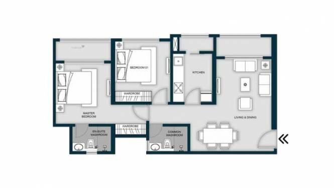 1039 sqft, 2 bhk Apartment in MICL Aaradhya Highpark Project 2 Of Phase I Mira Road East, Mumbai at Rs. 82.0000 Lacs