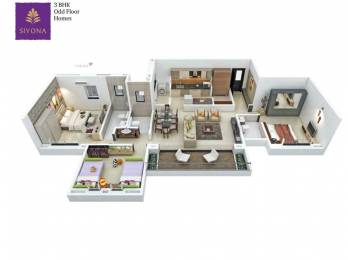 1303 sqft, 3 bhk Apartment in Pethkar Siyona Phase I Tathawade, Pune at Rs. 1.0515 Cr