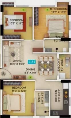 1181 sqft, 3 bhk Apartment in Primarc Allure Tangra, Kolkata at Rs. 60.8215 Lacs