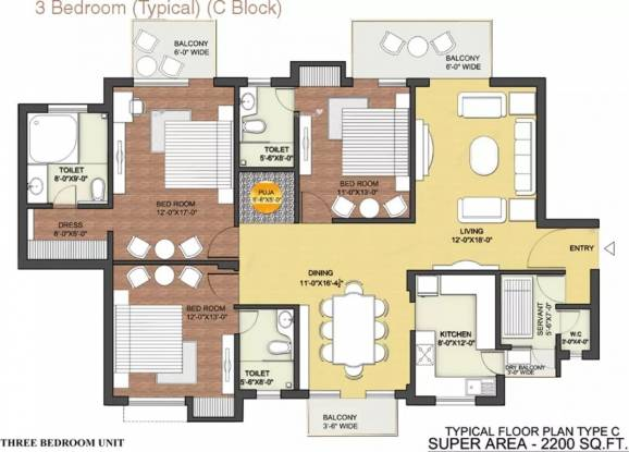 2200 sqft, 3 bhk Apartment in Tulip Ace Sector 89, Gurgaon at Rs. 90.0000 Lacs