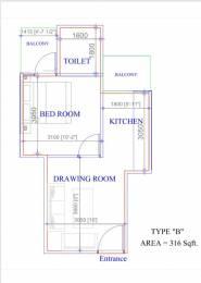 320 sqft, 1 bhk Apartment in Adore Samriddhi Sector 89, Faridabad at Rs. 13.5000 Lacs