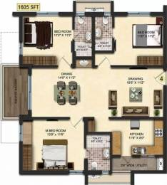 1605 sqft, 3 bhk Apartment in Accurate Wind Chimes Narsingi, Hyderabad at Rs. 86.9606 Lacs