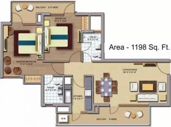 1198 sqft, 2 bhk Apartment in CHD Avenue 71 Sector 71, Gurgaon at Rs. 70.0000 Lacs