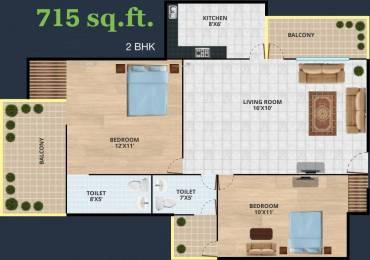 715 sqft, 2 bhk Apartment in Revanta Diplomatic Greens Zone L Dwarka, Delhi at Rs. 31.1025 Lacs