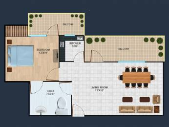 449 sqft, 1 bhk Apartment in Revanta Diplomatic Greens Zone L Dwarka, Delhi at Rs. 18.2200 Lacs