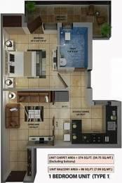 486 sqft, 1 bhk Apartment in Amolik Heights Sector 88, Faridabad at Rs. 15.3000 Lacs
