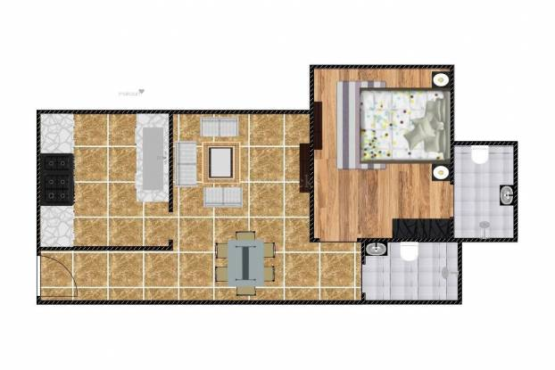 600 sqft, 1 bhk Apartment in Sheth Midori Dahisar, Mumbai at Rs. 17000