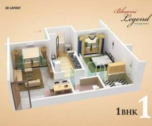 705 sqft, 1 bhk Apartment in Bhoomi Legend Kandivali East, Mumbai at Rs. 87.0000 Lacs